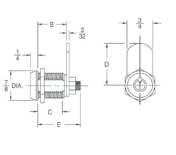 Quot tubular barrel cam lock keypull with keys