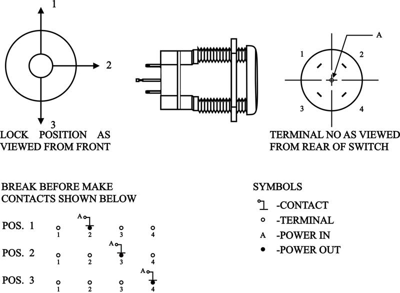 Single Pole Triple Throw Rotary Switch Dptt Rotary Switch