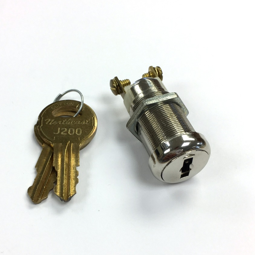 Momentary On Off Key Switch Lock Screw Terminal With Two