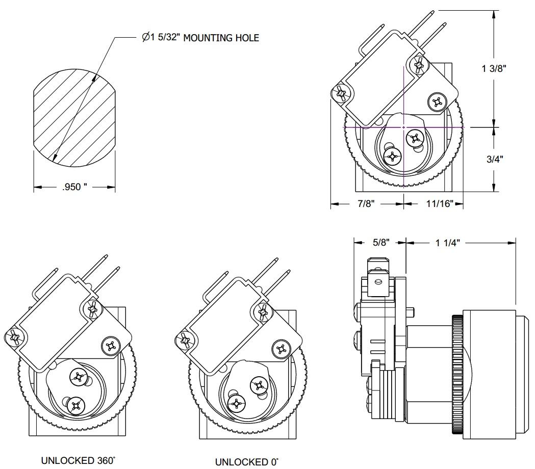 small format interchangeable core lock  alternative of