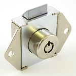 Elevator Flush Mount cabinet lock with two Tubular keys