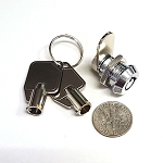 Miniature Tubular (barrel ) Cam Lock, 3/8 inch cylinder length, keyed alike