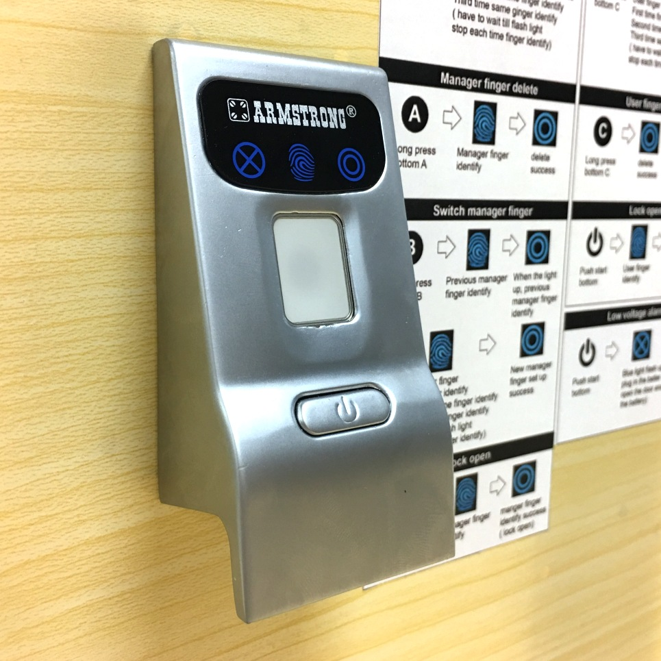 Biometric Fingerprint Cabinet Drawer Locker Lock With Pull