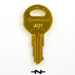 Northeat Lock Montgomery A series elevator keys - code from A00 to A39