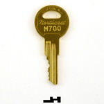 Northeast M700 key for C.J. Anderson Elevator fixtures