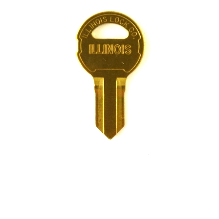 Original Illinois Lock Uncut Key Blank 100 Double Bitted