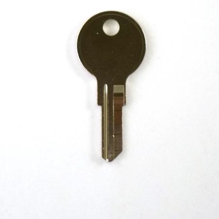 Original Illinois Lock Uncut Key Blank 163 Single Bitted