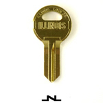 Original Illinois Lock uncut key blank 210M, double bitted, keyway code# 210M