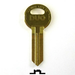 Original Illinois Lock uncut key blank 610B, triple bitted (DUO), keyway code# 610B with DUO 'X'