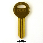 Original Illinois Lock uncut key blank 610BL, triple bitted (DUO), keyway code# 610BL