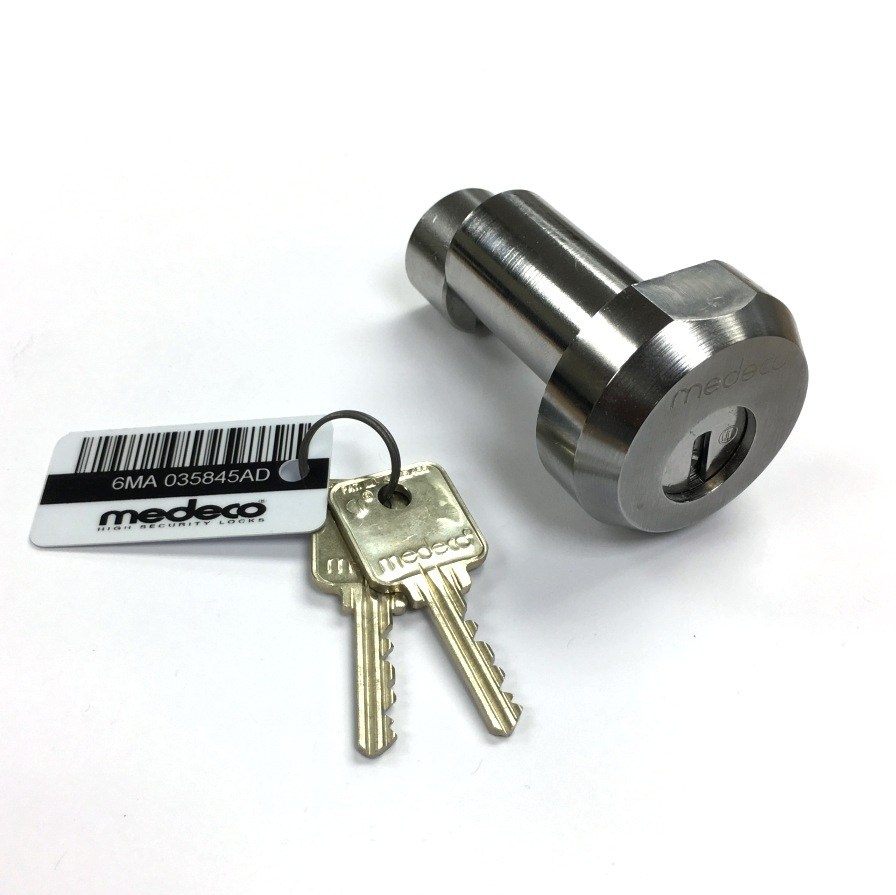 Medeco Roll Up Gate Roller Shutter Door Lock With Two Keys