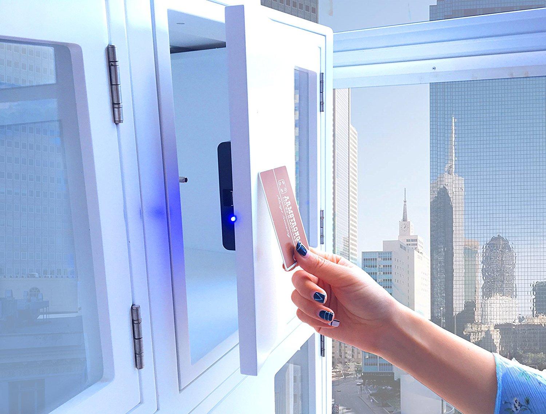Armstrong Hidden Behind the Door RFID Cabinet Lock, Concealed Drawer Lock