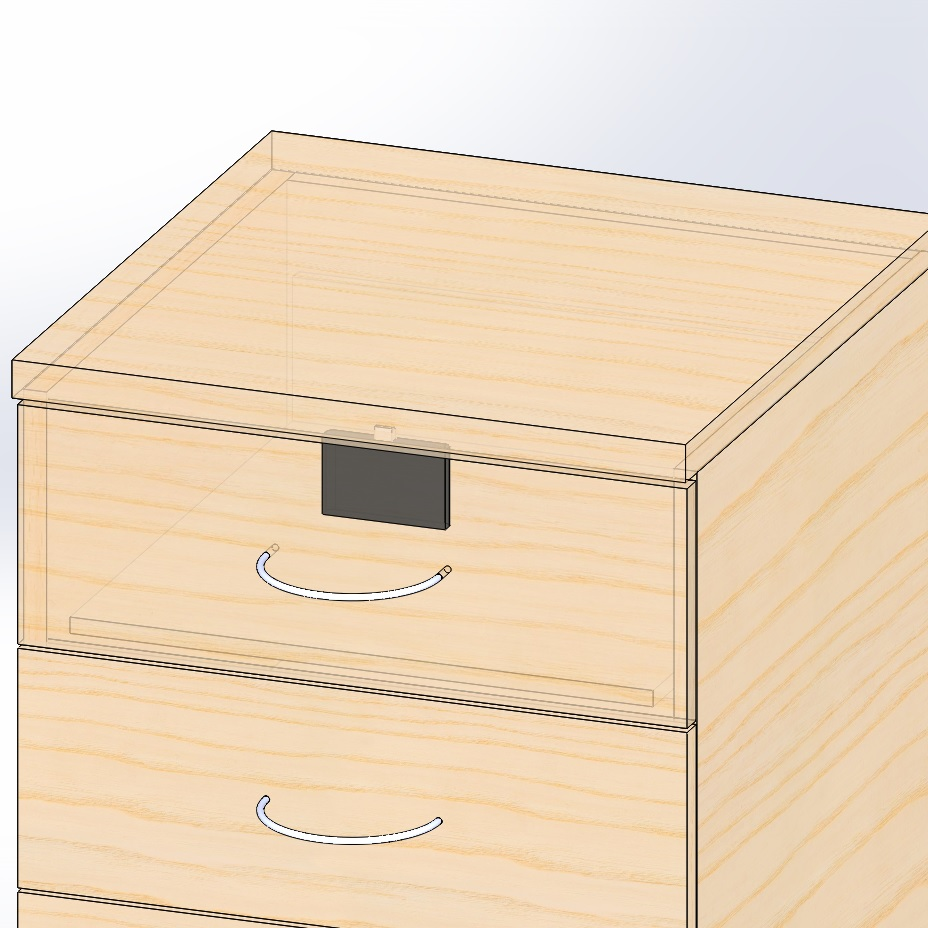 Armstrong Hidden Behind The Door Rfid Cabinet Lock Concealed Drawer Lock