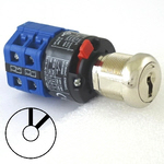 2 position 2 key-pull elevator emergency power quick connect blue key switch lock with 2 AZFS, L205, UTF or WD01 keys