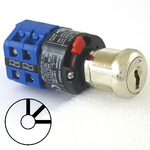 Three position three key-pull elevator Emergency power quick connect blue key switch lock with AZFS, L205, UTF or WD01 keys