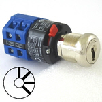 Four position four key-pull elevator emergency power quick connect blue key switch lock with AZFS, L205, UTF or WD01 keys