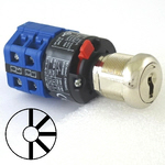 Five position five key-pull elevator Emergency power quick connect blue key switch lock with AZFS, L205, UTF or WD01 keys