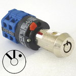 Elevator fire service PHASE II blue rotary selector switch lock with 2 keys