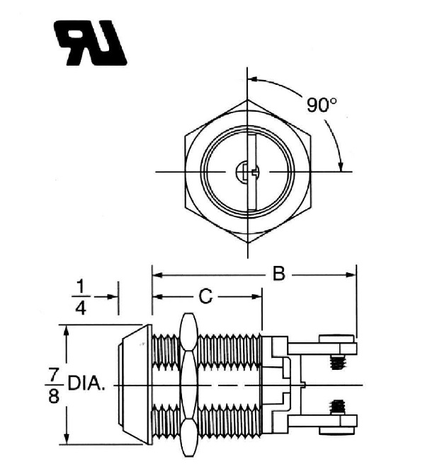 s203a on off screw terminal key switch lock (normally open Normally Open Momentary Switch Diagram Normally Open Momentary Switch Diagram #97 Normally Open Momentary Switch with Two Wire Leads
