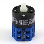 3 Positions 30 Degree Indexing Double Momentary Blue Switch with Shaft, PN A715