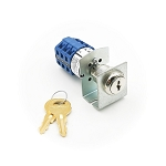 Three position two key-pull elevator fire service PHASE I blue key switch lock with bracket and two SC1000 keys