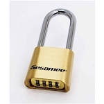 CCL Sesamee Brass Combination Padlock, 4 dial resettable