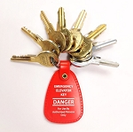 Schindler Elevator Keys Set with Red Fob, Set of Seven (8) Keys, AS100, 100T, 501CH, H200, H301, H341, OCO1, OCO4