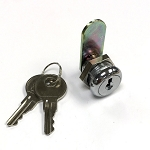 5/8 inch body length disc tumbler cam lock, with 2 keys, keyed-alike