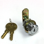 1-1/8 inch body length disc tumbler cam lock with 2 keys (Keyed Different on multiple locks)