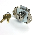 High Security Locker/Cabinets Flush Mount Lock, Spring Bolt, Two DUO keys included, Model Number 6311