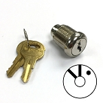 Three position two key-pull cross slotted lock for fire service PHASE 2 rotary switches (switch not included)