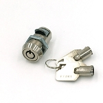 Stud-less tubular FEO-K1 slam latch lock with 2 FEOK1 keys
