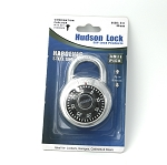 Hudson Lock anti-pick hardened steel combination padlock, 3/4 inch shackle clearance