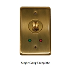 Single Gang Faceplate for SFIC key switch lock