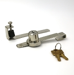 Sliding Glass Door Showcase Lock with 2 Brass Keys