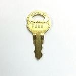 F series key - F200 to F593 for Illinois/Northeast Lock fixtures