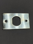 Rectangle mounting plate (aka. anchor plate) for key switch lock and cam lock with cutout .75