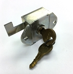 Flush Mount Locker lock for standard and Brunswick steel lockers, RH, Flag Bolt Style