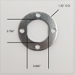 Double D Anchor Washer with 4 mounting holes P/N S6941