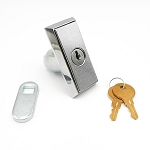 Small Pop-out T Handle with Cylinder and Two keys, Compact Vending Machine Lock, Keyed-alike