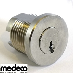 Reinforced Medeco Removable Plug Cylinder Kit (Hardened Steel Shell Version with Spin Shield) fits 1-1/8