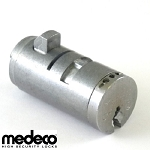 Medeco T-handle Cylinder Plug, P/N 64W0950T, for Vending Machines and Bill Changers, Spring Bolt, Steel Bolt
