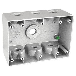 3 Gang Weatherproof Electric Box (2-5/8 inch deep inside)