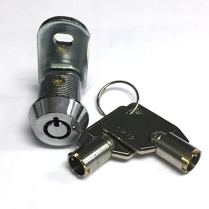 "5/8"" Tubular (barrel) Cam Lock, 1 Keypull with 2 Keys Keyed-alike"