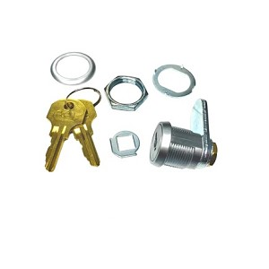 5/8° Body Length CCL Cam Lock with 2 CAT60 keys, 3/16° spacer collar and ½° long cam included