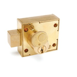 Flush Mount Cabinet and door enclosure lock, RH, keyed-alike, dead bolt, PN A55481