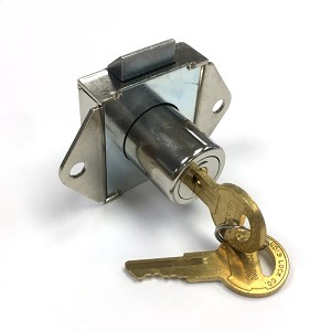 Spring Loaded Flush Mount Cabinet Lock with Two Keys Keyed-alike