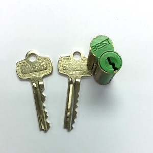 Best Access Systems Temp Green construction core with 2 keys, 7-pin