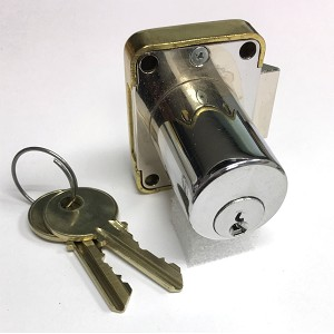 LH (Left Handed or Left Hinged) Yale 511S Flush Mount Cabinet Lock with two keys