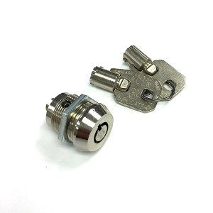 Brass Cylinder Lock with 2 Tubular Keys for Blue Rotary Switches (less switch)